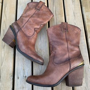 Lucky Brand 'Elle' Heeled Western Boots, Size 9.5